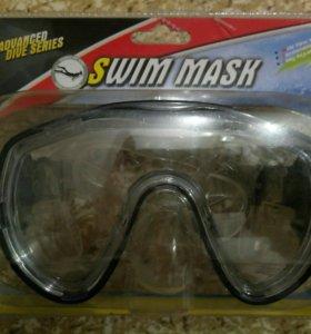 Маска для плавания новая