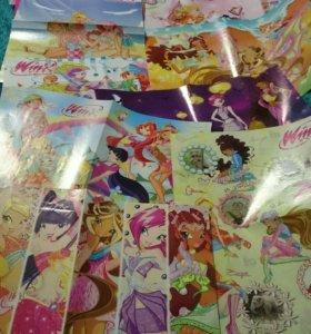Постеры-раскраски Winx 16 шт.