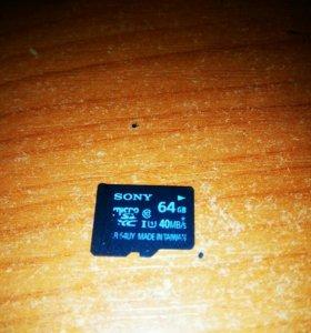 Sd карта Sony 64 Гб