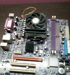 Материнская плата + процессор с охлождением