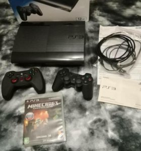 Sony PlayStation 3 Super Slim Ps3 два геймпада