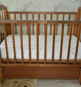 Кроватка (г.Можга) и ортопедический матрас