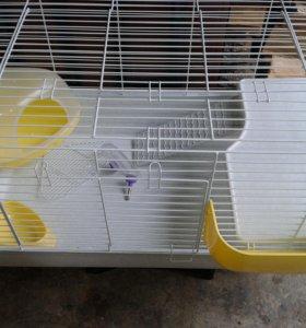 большая новая клетка- для кролика.хорька.шиншиллы.