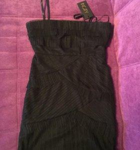 Платье новое чёрное без лямок