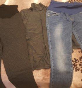 Брюки , джинсы,водолазка для беременных.