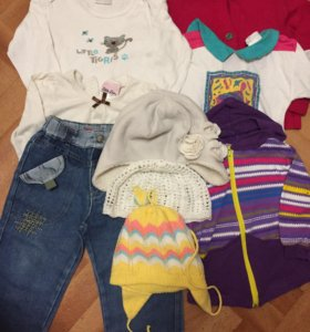 Пакет вещей для девочки р-р 86