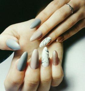 💅 Наращивание ногтей / Гель лак