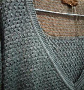 Свитер платье вязаное