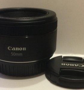 Canon ef 50mm stm! Новый