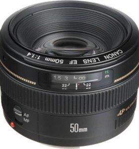 Canon 5Омм 1.4 USM новый