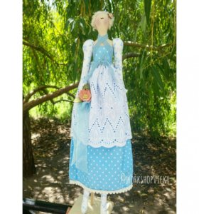 Кукла Тильда по мотивам Алисы в Стране чудес