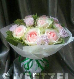 Сладкий букет роз