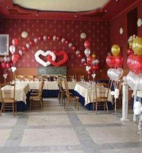 Оформление банкетного зала воздушными шарами