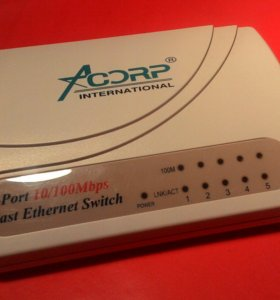 Switch Acorp 5-Port Fast Ethernet