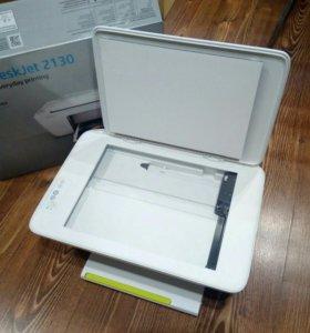 Принтер сканер копир HP струйный + краски