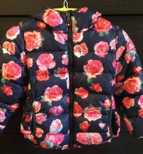 Осенняя куртка для девочки , р110