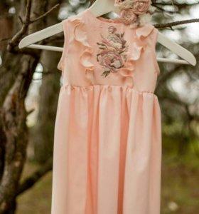 2 платья . комплект мама-дочь
