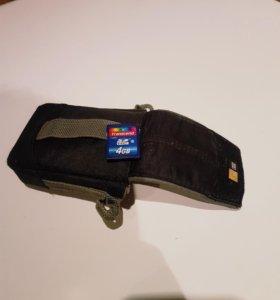 Сумка для цифрового фотоаппарата и SD карта
