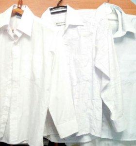 Белые рубашки+брюки школьные