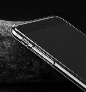 Прозрачный чехол для iphone SE/6/6+/7/7+/8/x