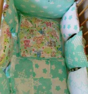Одеяла, бортики, простынки на резинке