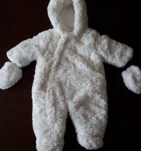 Комбинезон детский белый мишка