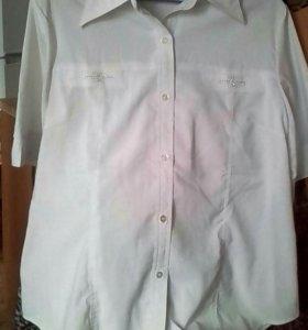 Шелковая блуза со стразами