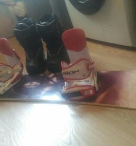 Сноуборд,крепления,ботинки,комплект