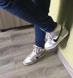 Кроссовки Nike сникерсы оригинал 38 р-р,кожа