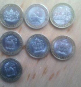 Монеты биметаллические по 10 руб.