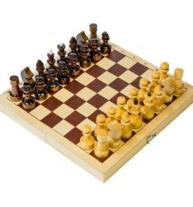 Шахматы походные, деревянные