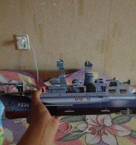 3D пазл корабль собран