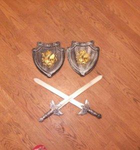 """Набор """"Храбрый рыцарь"""" щит и меч детский"""