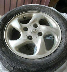114.3x4 R15 4 колеса новая резина