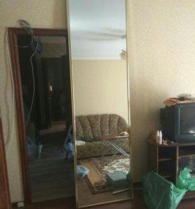 Дверь шкафа купе зеркальная 260х73