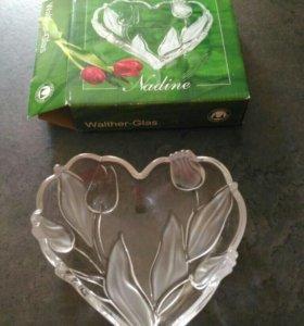Новая ваза сердечко подарок в коробке
