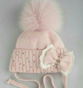 Продам шикарную шапочку для девочки