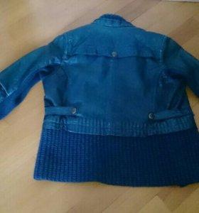 Кожаная куртка для девочки.