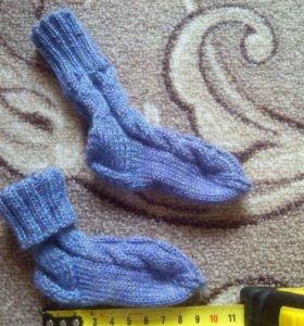 Новые вязаные носки