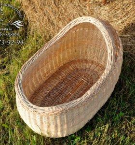 Колыбель плетеная (люлька для новорожденного)