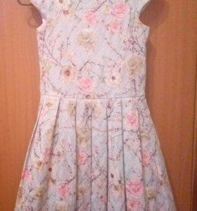 Платье с подкладом. Для девочки. 10-12 лет.