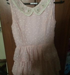 Платье , нежно - розового цвета