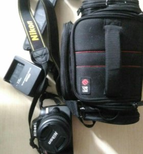 Фотоаппарат Nikon D3200, сумка, карта 32 Гбайт