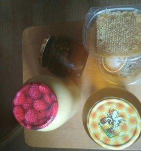 Мед и продукты пчеловодства.