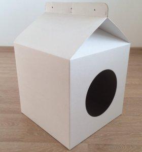 Дом из картона для кошки или маленькой собаки