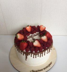 Торт на праздник. Минимальный вес 2,5 кг.