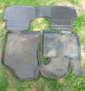 Коврики резиновые для Hunday ix35/Kia Sportage