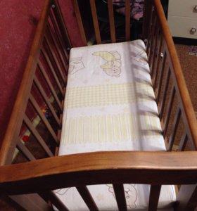 Кровать-люлька GandyLyan+ матрац+ бортики