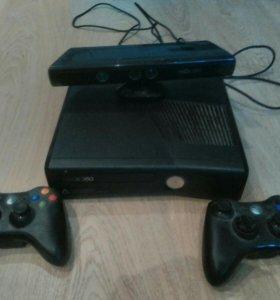 Xbox 360+кинект+2 геймпада+10 игр ,Обмен интресует