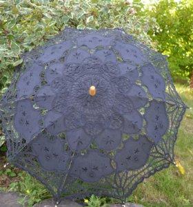 Новый черный кружевной зонтик